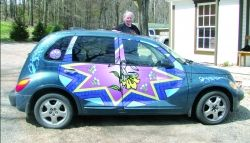 ALL READY FOR EASTER | Punxsutawney Spirit Jean Curtis'   PT Cruiser   All Decked out for Pysanky..