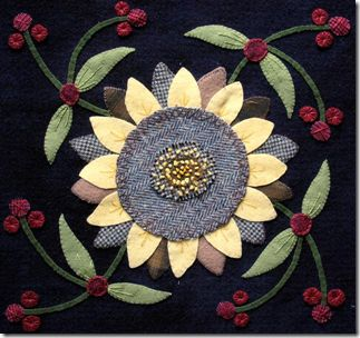 Kathy Carniff pattern...Sunflowers.: Wool Felt, Felt Wool, Carniff Patterns Sunflowers, Wool Projects, Wool Applique, Carniff Patternsunflow, Handmade Diy, Diy Projects, Kathy Carniff