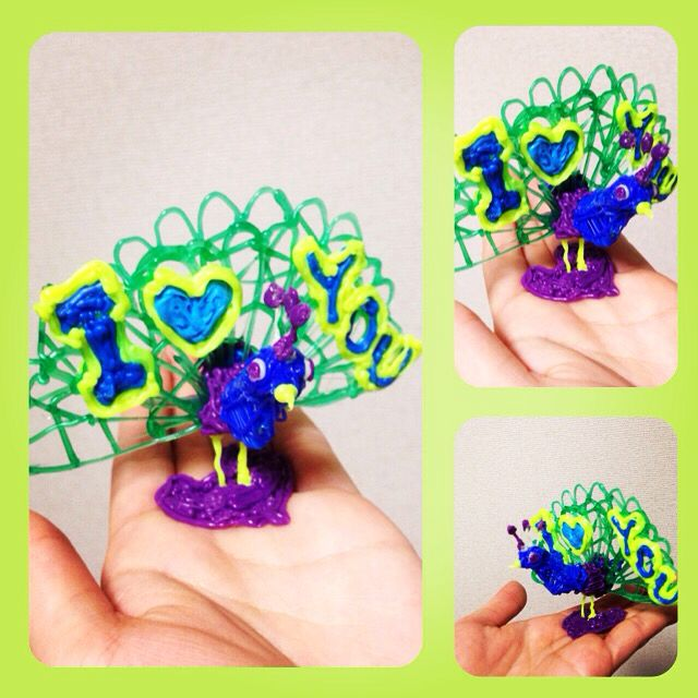 I made peacock! #3Doodler #3DoodleOff