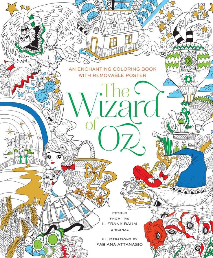The Wizard Of Oz Coloring Book Fabiana Attanasio 9781454920939 Amazon