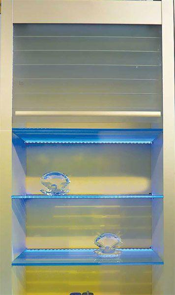 Glass Rolling Shutter 2   Model:K2.12.301   600mm   600x1320mm   White  K2.12.302   900mm   900x1320mm   White Price:Rs36999