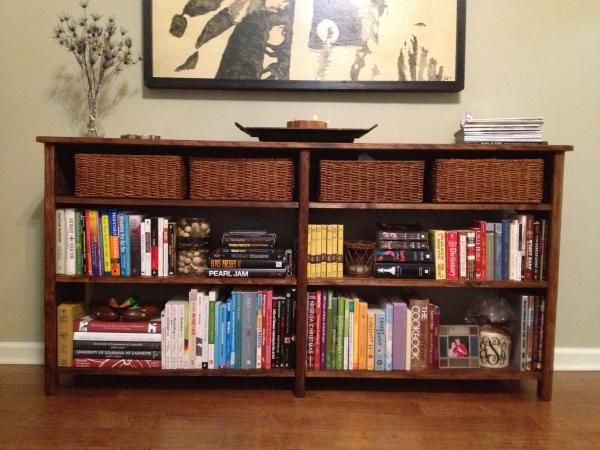 Long Bookshelf | Do It Yourself Home Projects from Ana White