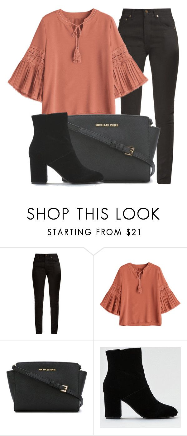 """Outfit #1856"" by lauraandrade98 on Polyvore featuring moda, Yves Saint Laurent, MICHAEL Michael Kors y American Eagle Outfitters"