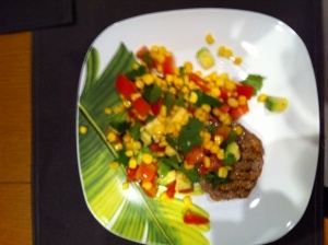 Chargrilled Beef with Corn Salsa by Michelle Bridges