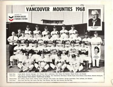 1968 Vancouver Mounties (AAA affiliate of the Oakland Athletics)