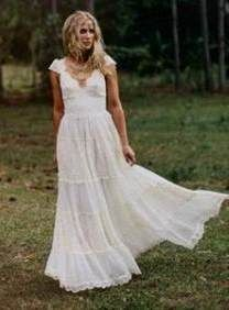 Awesome hippie wedding dresses 2017-2018