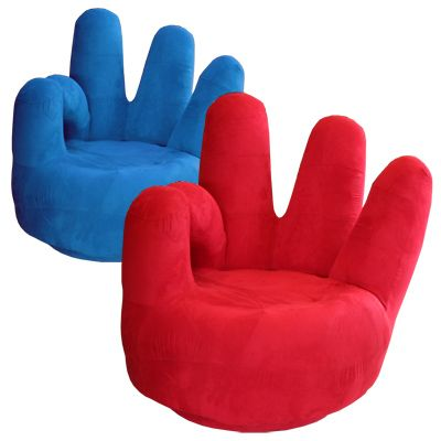Check out these fun-shaped chairs from World of Furniture. My mom had some of these in her middle school library - the kids loved them!