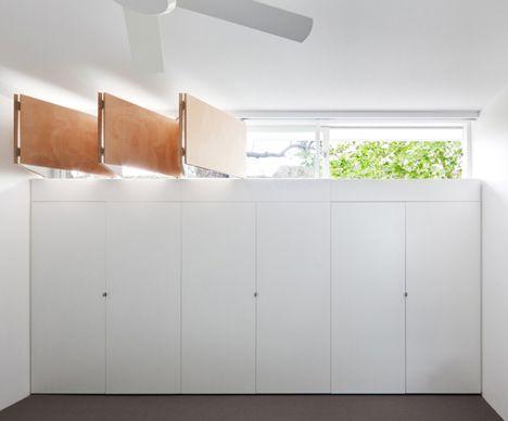 Window above wardrobes