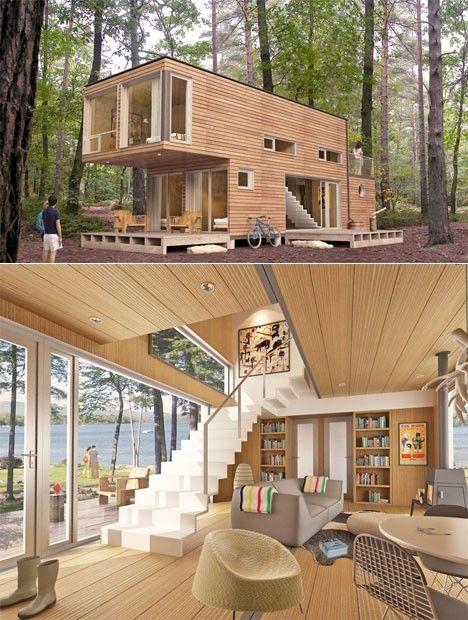 Realmente fresco y barato casas prefabricadas por los sujetos elegidos al azar