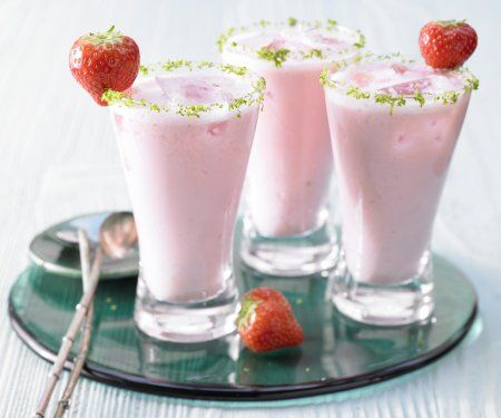 Rezept: Rhabarber-Erdbeer-Smoothie