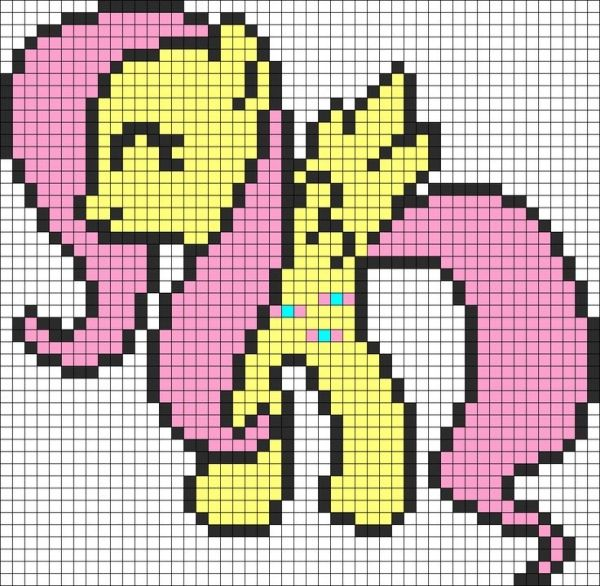 Fluttershy My Little Pony Perler Bead Pattern / Bead Sprite by paige