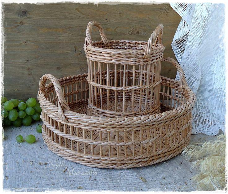 """Купить Плетеный набор """"Le Jardin"""" - корзина плетеная, плетеный набор для кухни, прованский стиль"""