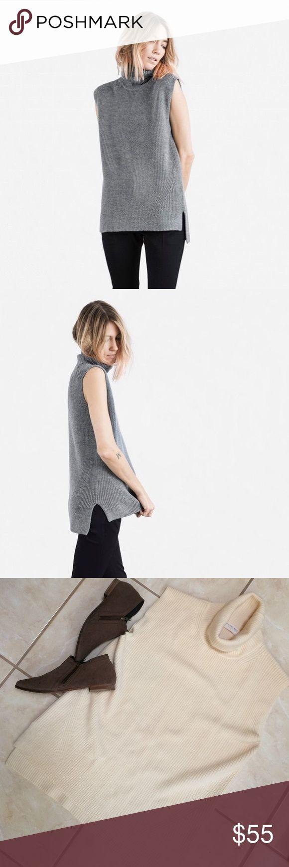 Everlane turtleneck sleeveless sweater Everlane sleeveless turtleneck sweater. Size Large. 100% wool. Everlane Sweaters Cowl & Turtlenecks