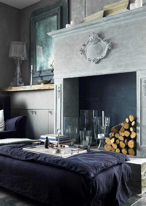 Die besten 25+ grauer Stein Kamin Ideen auf Pinterest Kaminsims - wohnzimmer mit steinwand grau