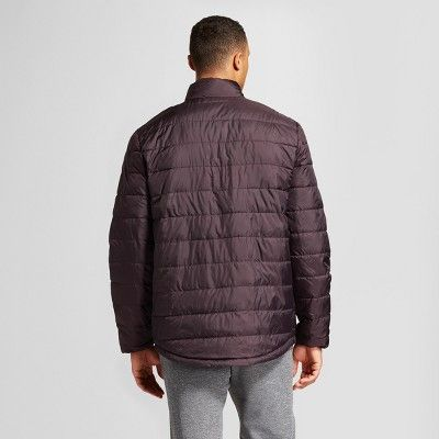 Men's Big & Tall Lightweight Puffer Jacket - C9 Champion Burgundy Blazer L-Tall, Size: LT