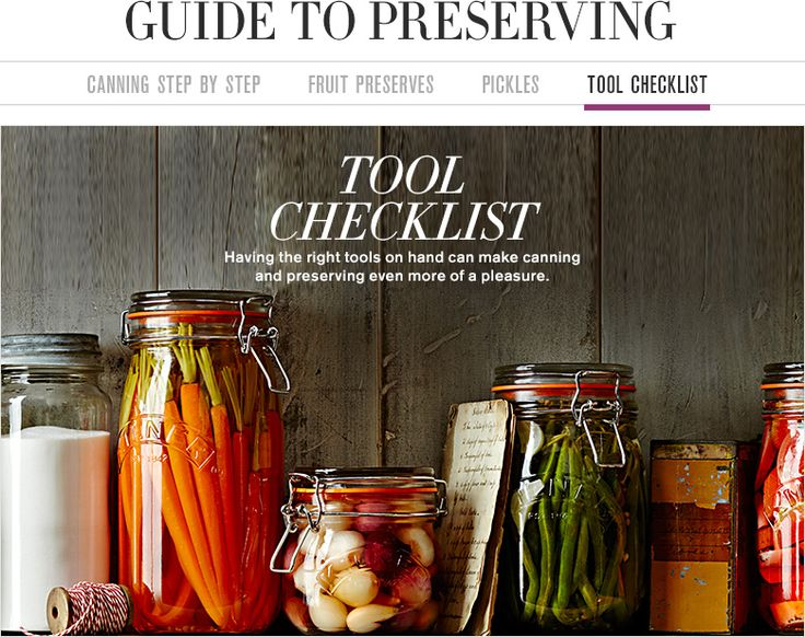 Home Canning Supplies, Canning Equipment & Checklist | Williams-Sonoma
