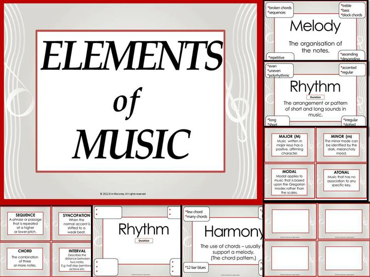 Elements of music use this as a teaching resource student note