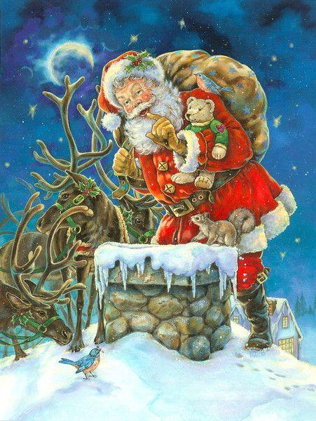 Santa ---Christmas By Donna Race