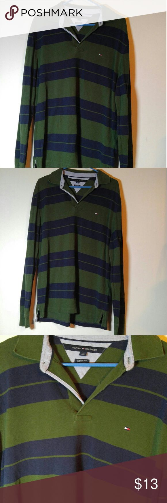 Mens Tommy Hilfiger Long Sleeve Shirt Sz Large Tommy Hilfiger Large Shirt-Looks more like an XL Tommy Hilfiger Shirts Casual Button Down Shirts