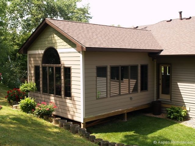Great Room Addition Plans Season Porch Addition Exterior