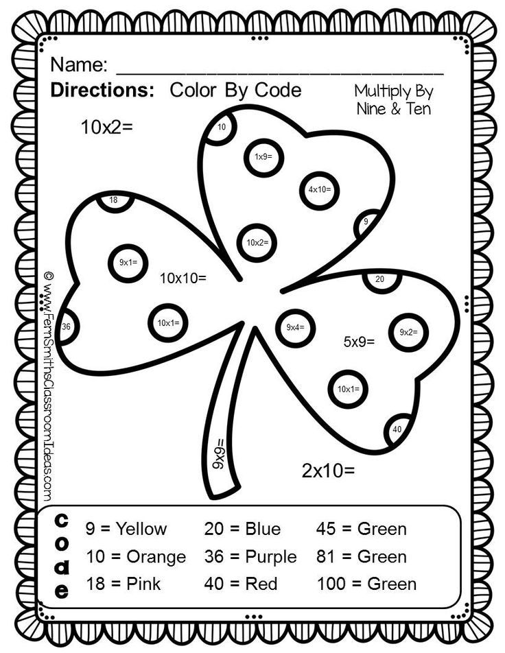 St. Patrick's Day Math   Math projects, Fern smith's ...