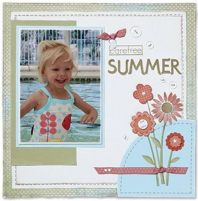 simple / summer / sweet, I think I would stack three 4x6 instead of the one pic.