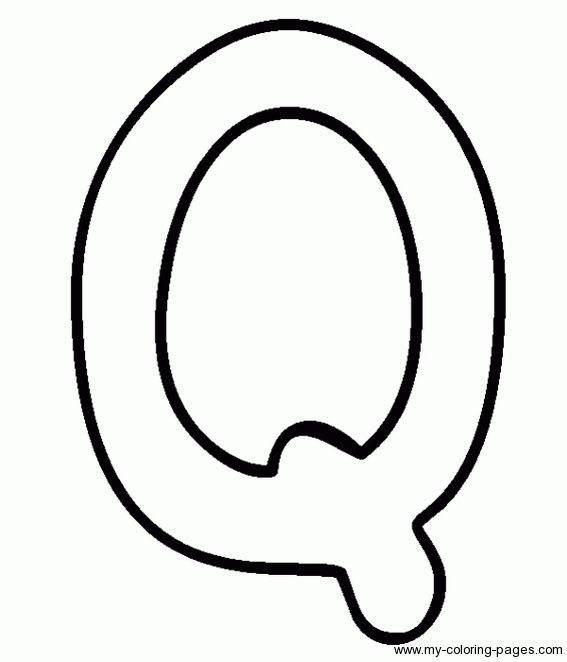 Letter Q Coloring Pages Coloring Coloring Pages