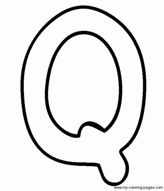 Letter Q Printable Coloring Pages #3 | Dots phonics ...