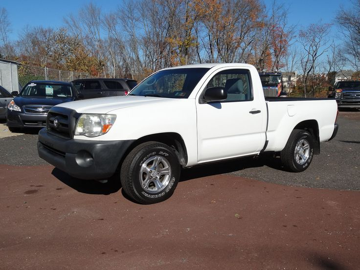 This 2007 Toyota Tacoma Regular Cab 2WD Truck is in excellent shape both inside and out, rust free, and runs & drives perfectly! Newer tires & brakes! New service & inspection! Leer Leonard cap with solid side storage box access. Great Carfax! This truck has 189,415 miles, but you wouldn't know it by looking at it or driving it! Warranty included! If you're looking for a clean truck that gets great gas mileage, at a great price, look no further! 4-cyl/Auto. $6,995. Call us at 215-513-4100.