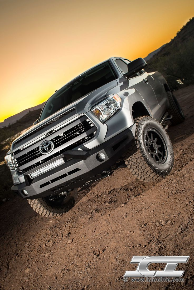 Magnum Bumper for the 2014 Toyota Tundra (pictured with RT-Series Light Bar). Part #FBM54TYN