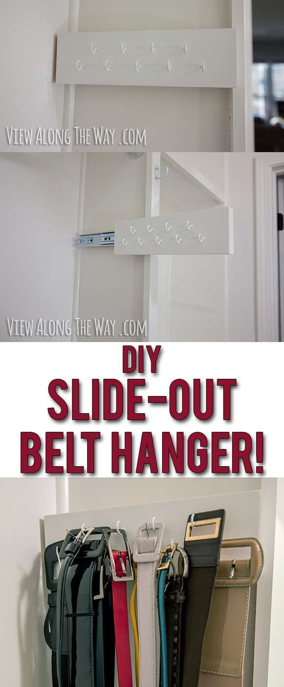 DIY slide-out scarf and belt organizers - * View Along the Way *
