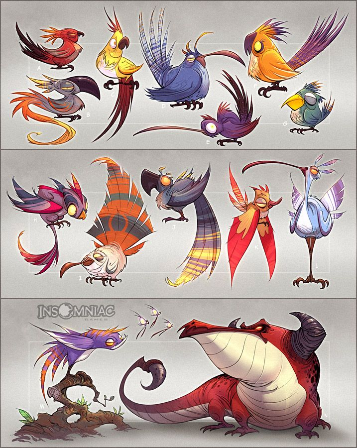 Birds of a Feather by CreatureBox on @deviantART
