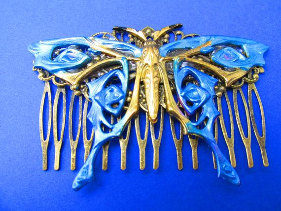 Butterfly Hair Comb Woodland Wedding Vintage Hair combs Bridal Hair Accessories Decorative Combs Butterfly wedding hair comb