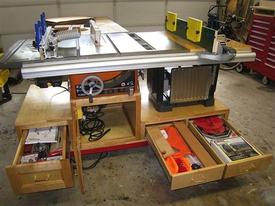 Like many of you I have a standard size two cargarage that my wife also likes to use to park her car in. I had a Rigid table saw but also wanted a complete shop that could fit in my garage and still allow room for a car. my solution was a mobile table saw work station. I used the basic plan came from WWW.woodonline.com but I had to modify …