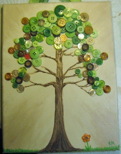 Fall Inspired Button Art