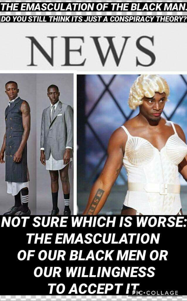 Black man in a dress conspiracy theories