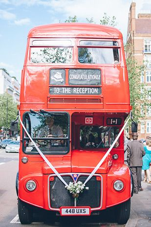 Red Bus Wedding Transport! London Wedding by My Love Story Photography | onefabday.com