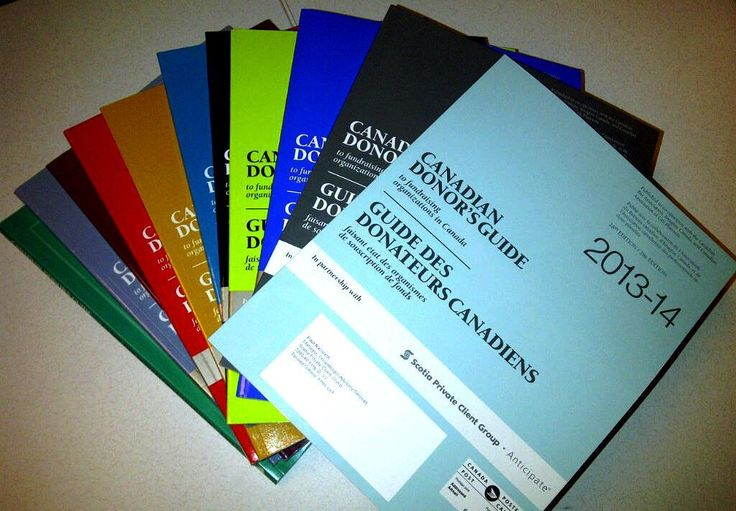 Paul Nazareth's collection of Canadian Donor's Guide copies from the last 10 years! Always a great supporter, inspiration and valued friend.