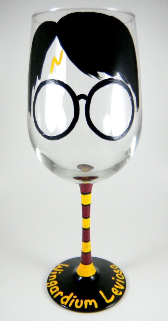 Harry Potter inspired Wine Glass by ImpulsiveCreativity on Etsy, $22.00