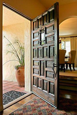 I love old Spanish doors...