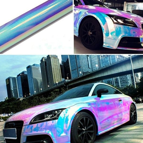 Rainbow Window Tint Car