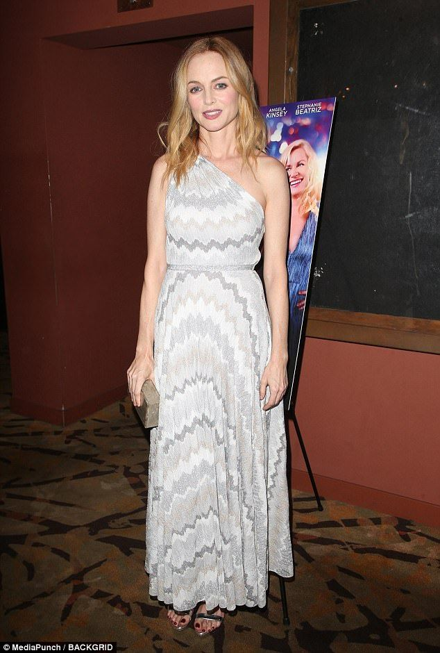 Big night: Heather Graham has directed her first feature film and on Wednesday she proudly...