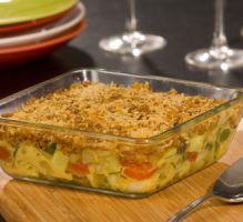 Recette - Gratin de légumes du soleil façon crumble - Notée 4/5 par les internautes