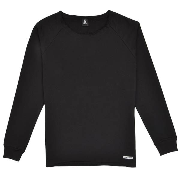 rucker park ESSENTIAL LONG OPEN EDGE CREWNECK schwarz
