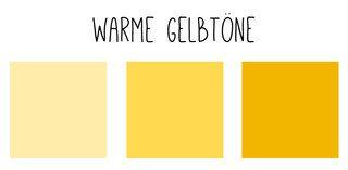 Warme Gelbtöne stehen warmen Farbtypen