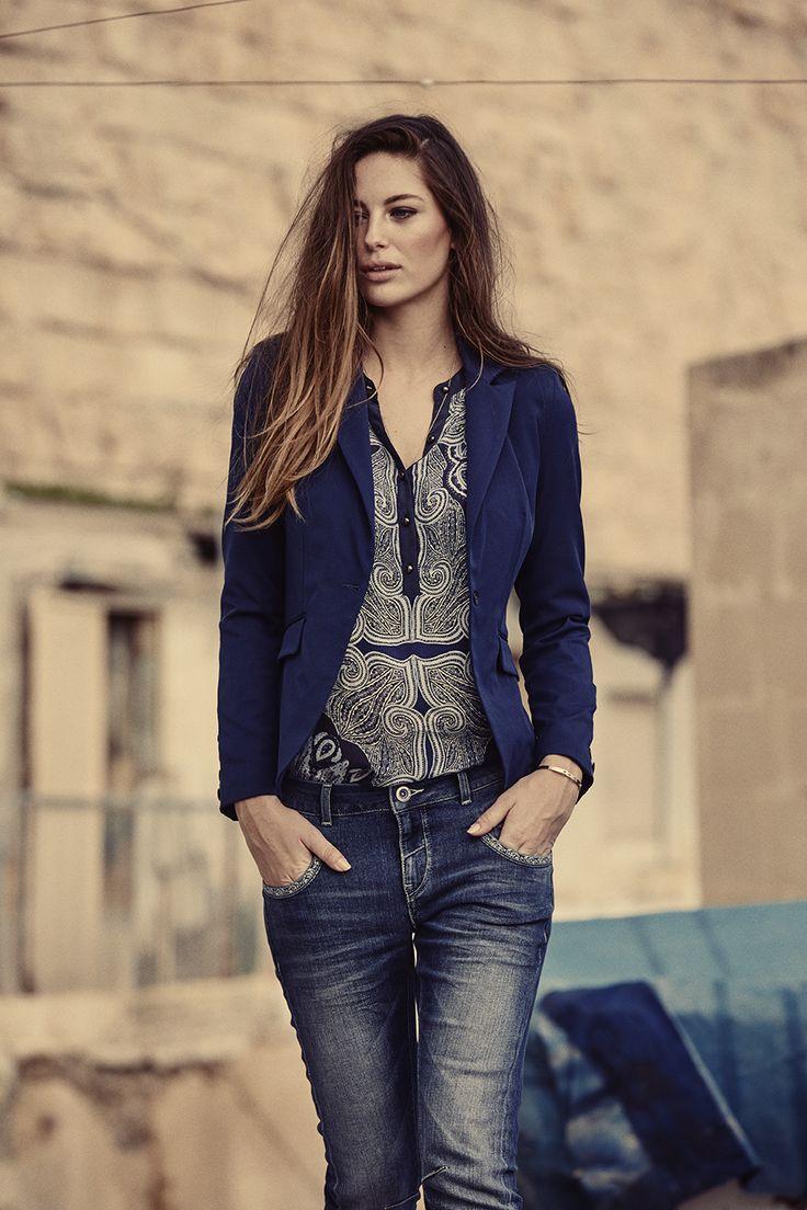 MOS MOSH // Baba Naomi Jeans - Key Paisley Shirt - Blake Diagonal Blazer