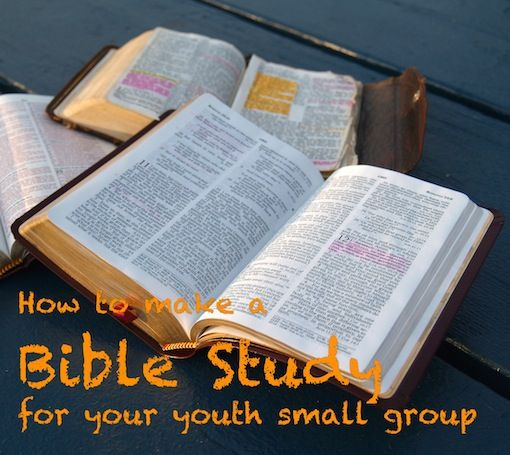 Making a good youth small group study is time consuming, but also very rewarding. While I don't believe there's one right format for good small group studies, I do think there's a process you can follow to help you create a good Bible study for your youth small group.