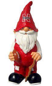 "Nebraska Cornhuskers Garden Gnome - 11"" Male"