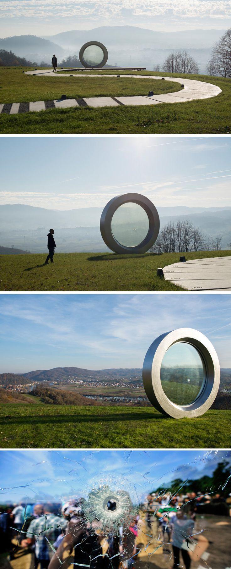 """The """"Broken Landscape"""" Memorial Sculpture In Croatia"""
