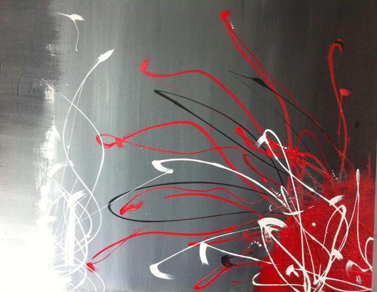 Toile Abstraite. Acrylique sur toile de coton. 30'' x 24'' Continuité. Karolanne Leduc. Suivez-moi sur Facebook Karolanne Leduc Artiste